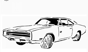 Dodge Challenger Coloring Page | 177x300