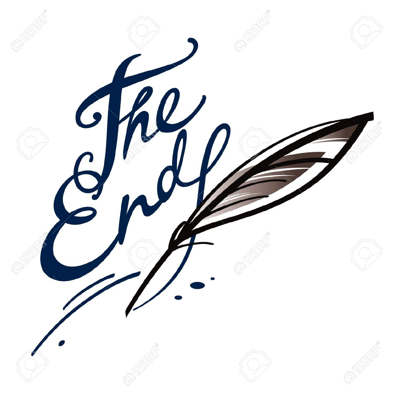 Book the end. Finish final clipart panda
