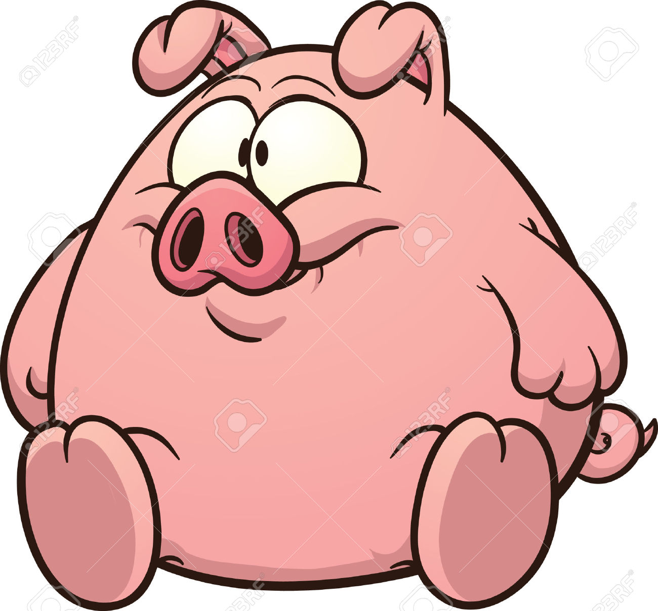 fat pig clip art vector clipart panda free clipart images rh clipartpanda com pig clip art images free pig clip art images