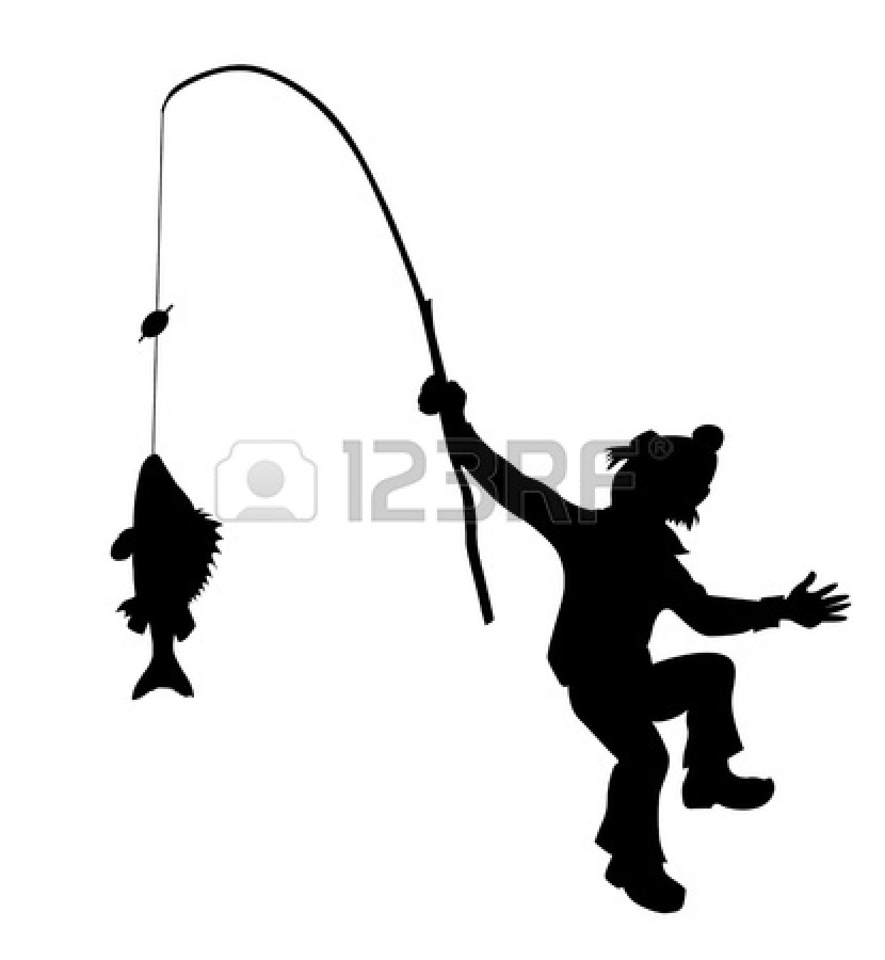 Fishing Line Silhouette Clipart Panda Free Clipart Images