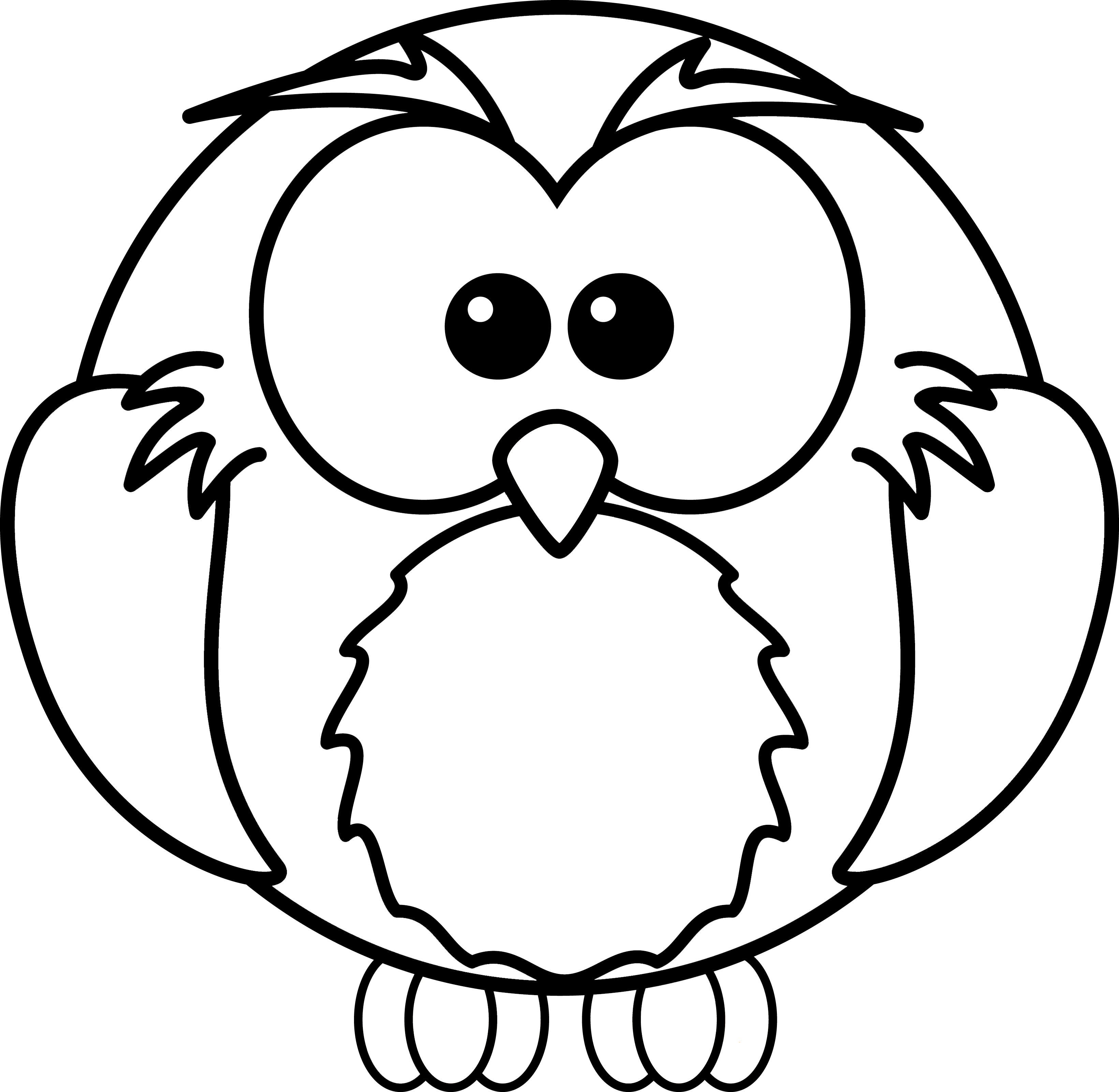 cartoon clipart free cartoon owl coloring page - Free Owl Coloring Pages