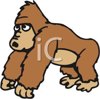 friendly gorilla clip art clipart panda free clipart images rh clipartpanda com gorilla clipart gif gorilla clipart black and white free