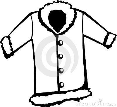 Fur coat vector illustration | Clipart Panda - Free Clipart Images