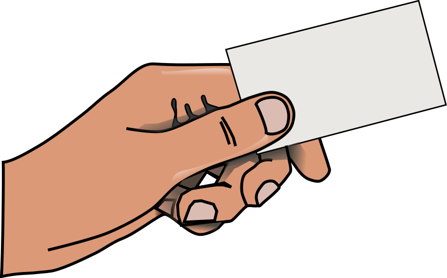 Hand With Card Clipart | Clipart Panda - Free Clipart Images