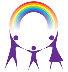 happy family holding a rainbow | clipart panda - free clipart images