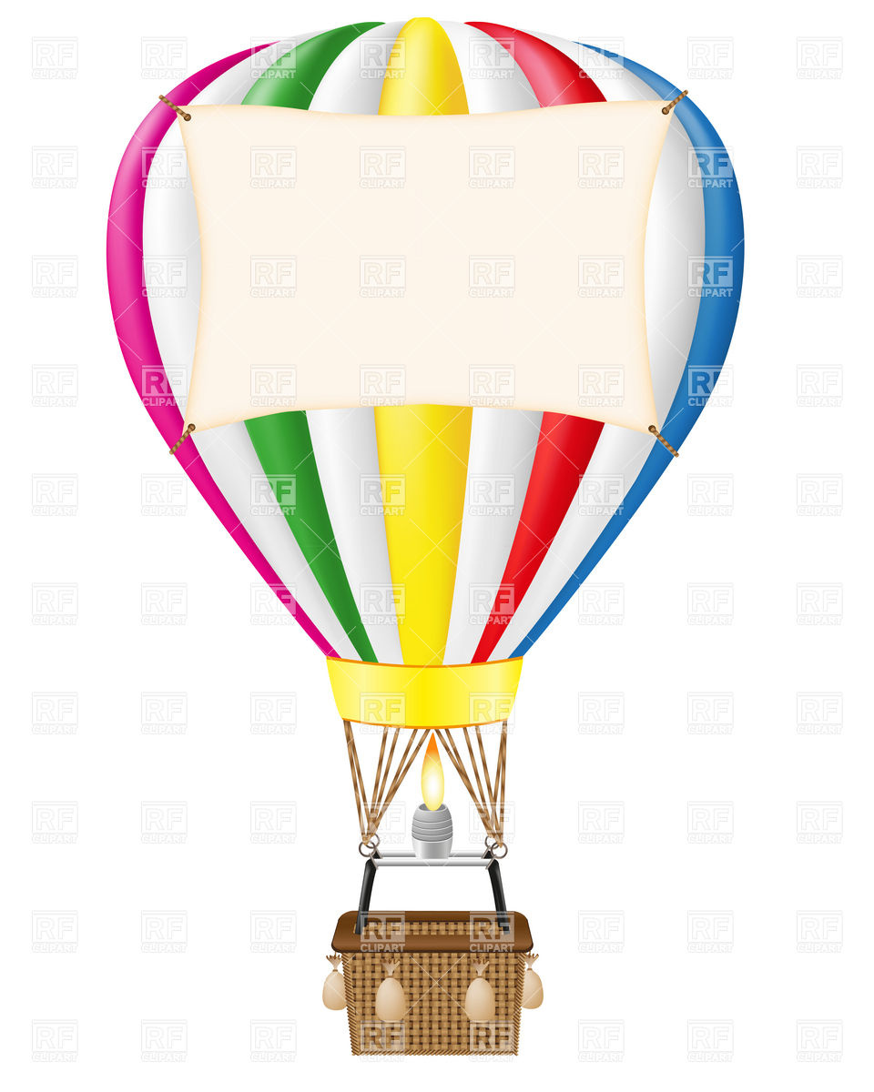 air balloon with blank clipart panda free clipart images