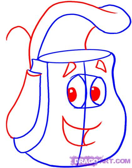 How To Draw Backpack From Dora Clipart Panda Free
