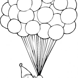 clipart info - Balloon Coloring Pages