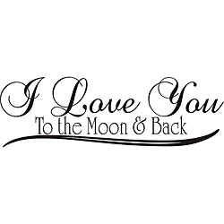 I Love You To The Moon And Back Clipart