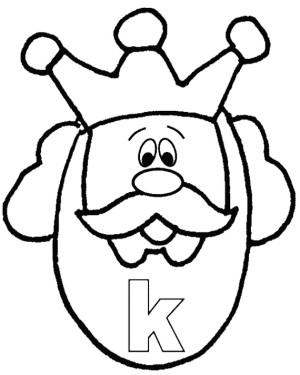 K For Head King Coloring Pages Clipart Panda Free