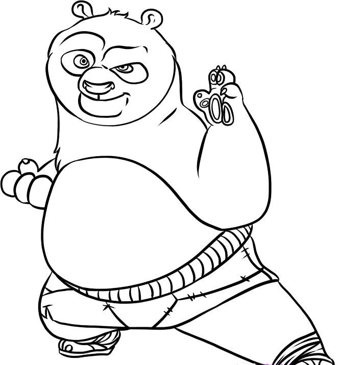 Kung Fu Panda Coloring Pages Clipart Panda Free Clipart Images
