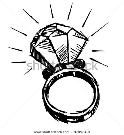 Diamond large. Ring clip art clipart