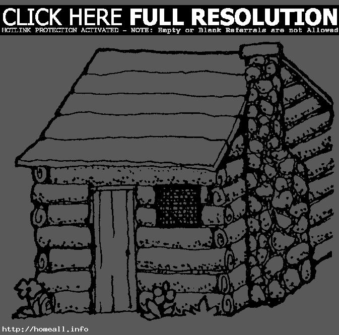 cabin clipart black and white. cabin clipart black and white log clip art