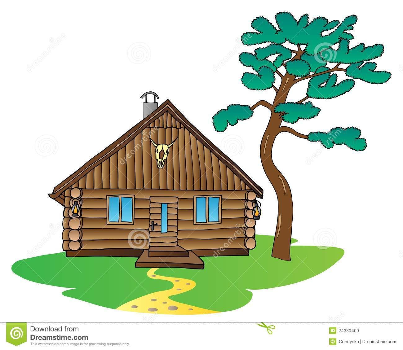 Camping Cabin Clipart Log Clip Art Black And