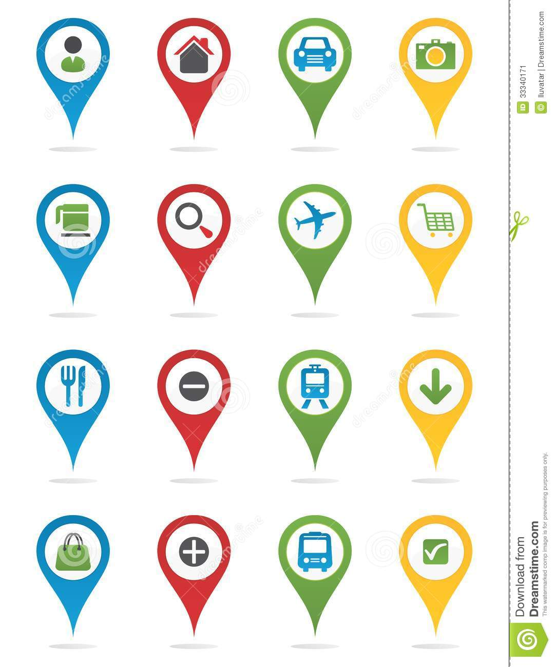 map pins with icons clipart panda free clipart images