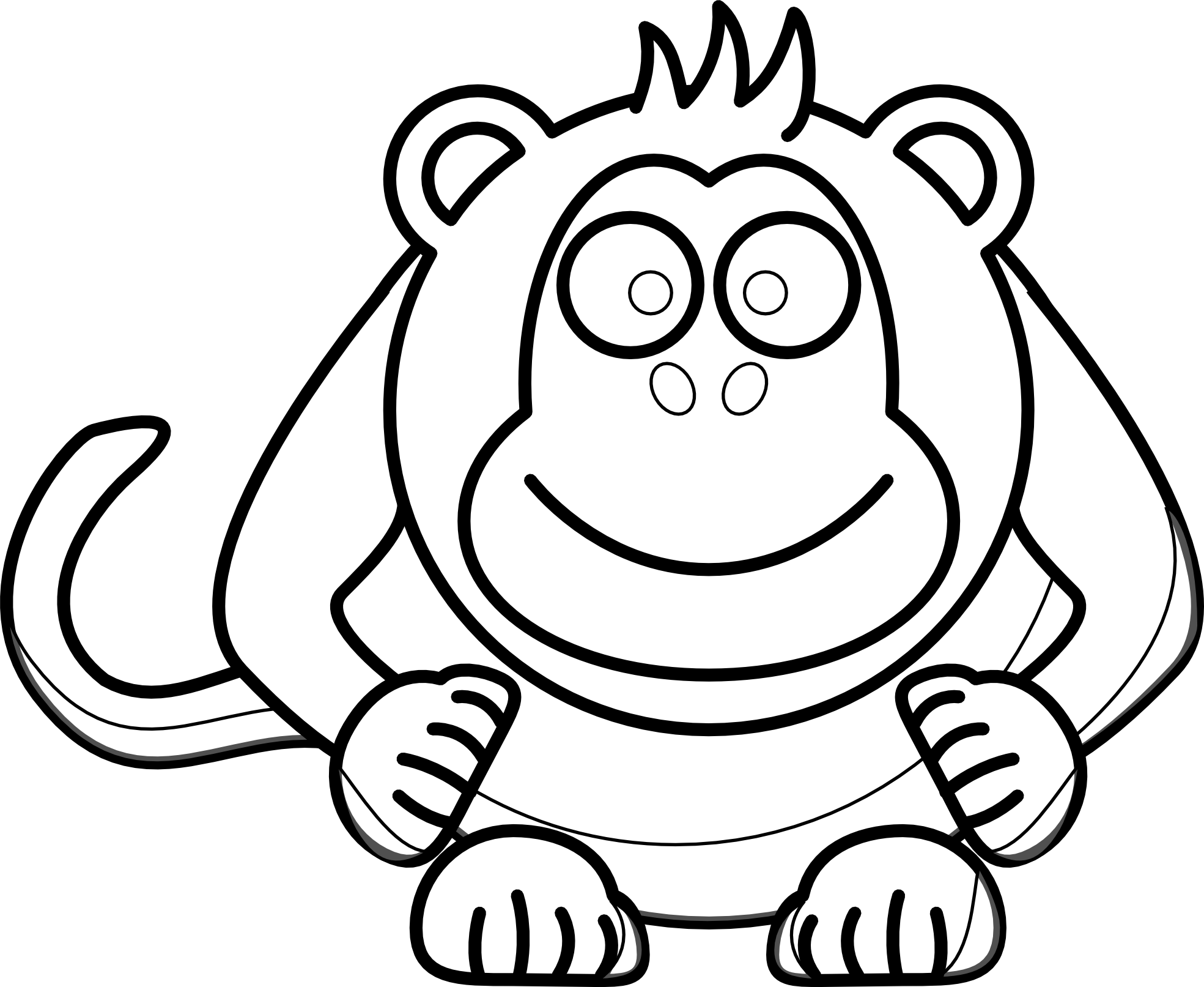 Monkey Coloring Book 1969×1613   Clipart Panda - Free Clipart Images