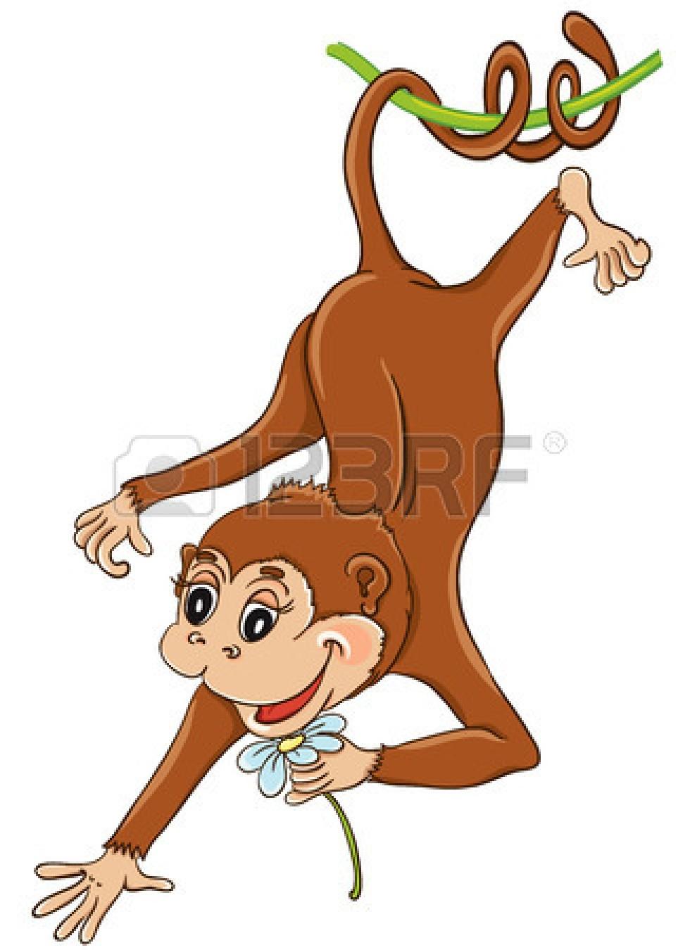 Monkey upside down. Hanging clipart panda free