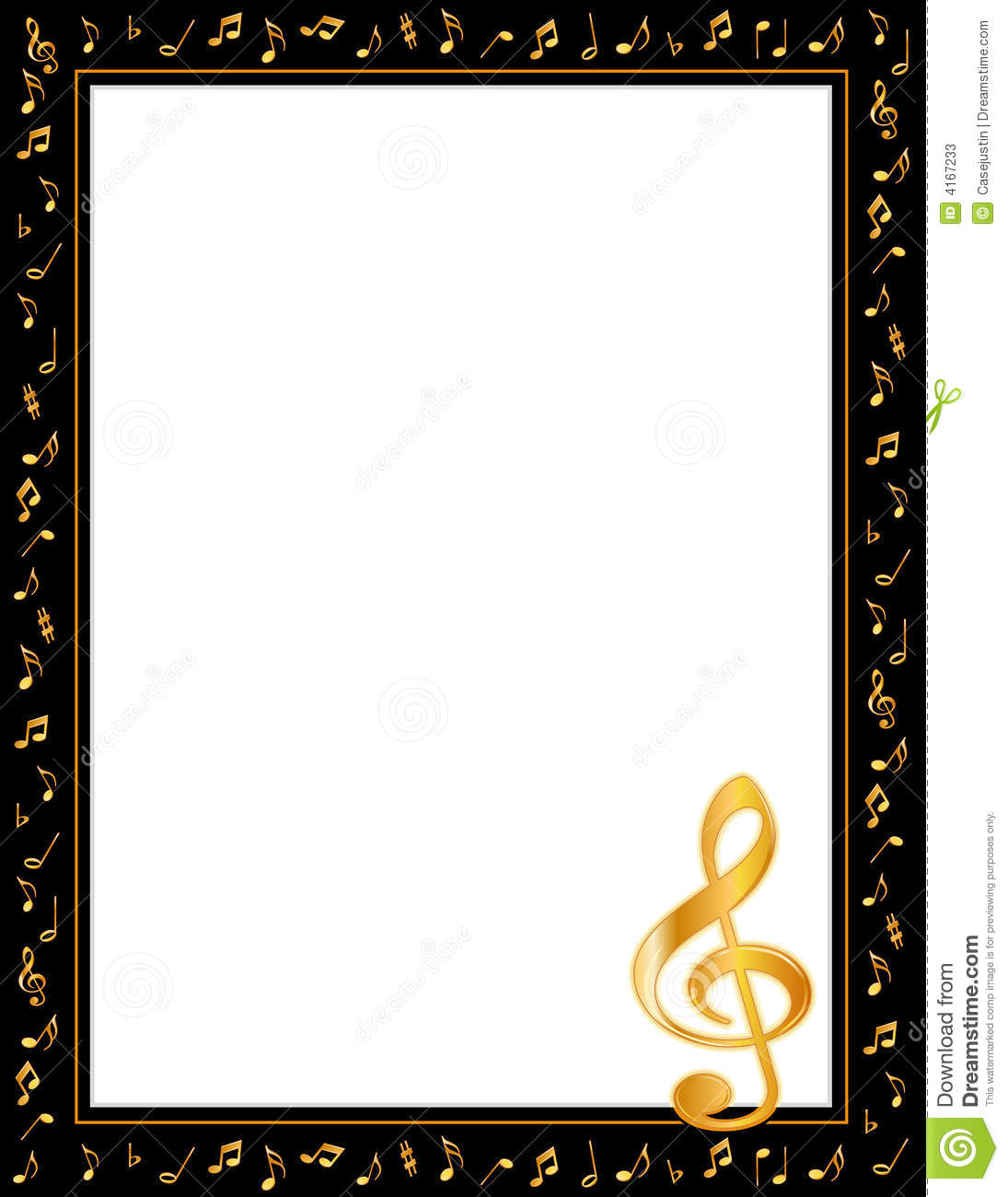 christmas music notes border music notes poster frame - Music Picture Frame