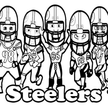 Nfl Football Steelers Coloring Clipart Panda Free