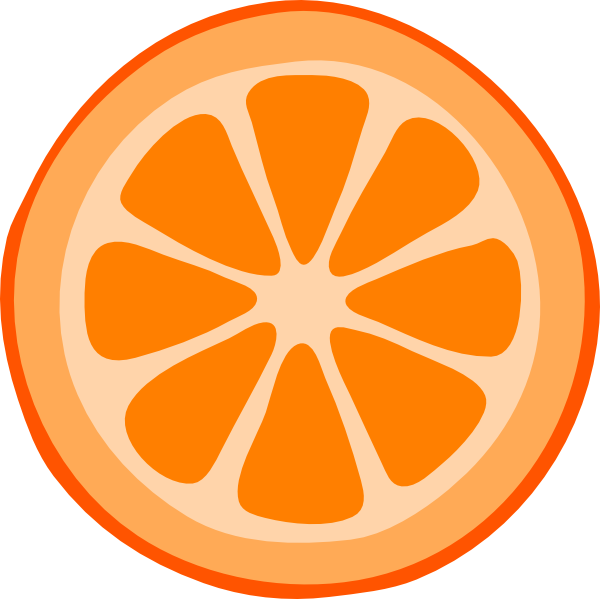 Orange Slice Clip Art Vector | Clipart Panda - Free Clipart