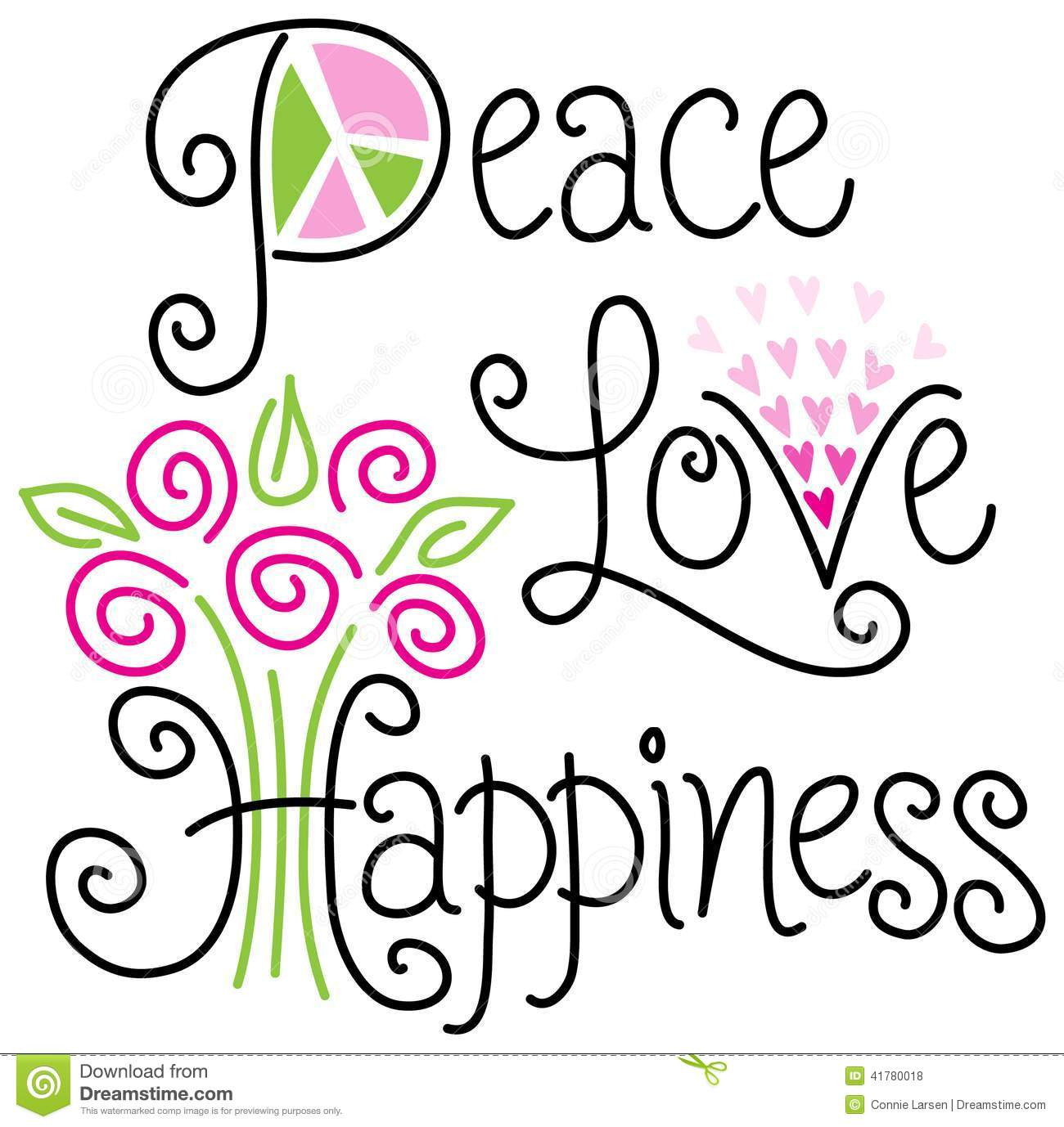Peace Love And Happinesseps Clipart Panda Free Clipart Images