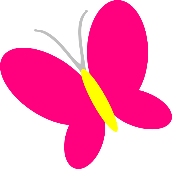 Hello kitty butterfly. Pink clip art clipart