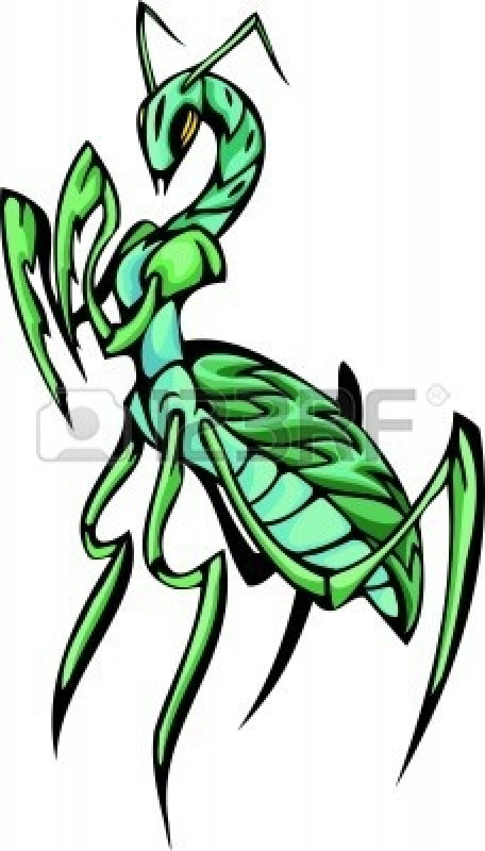 predatory insects clip art clipart panda free clipart images rh clipartpanda com cute praying mantis clipart Praying Mantis Coloring Page