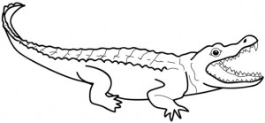 printable alligator coloring | clipart panda - free clipart images - Alligator Clip Art Coloring Pages