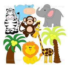 photograph relating to Free Printable Jungle Animals named Printable Jungle Pets Clip Clipart Panda - Free of charge Clipart
