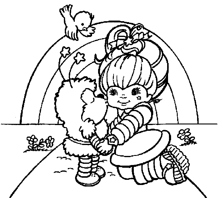 Rainbow Brite Coloring Page Clipart Panda Free Clipart Images