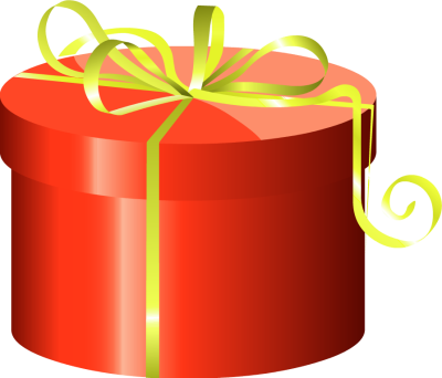 Red cylinder gift box with clipart panda free clipart images clipart info negle Image collections
