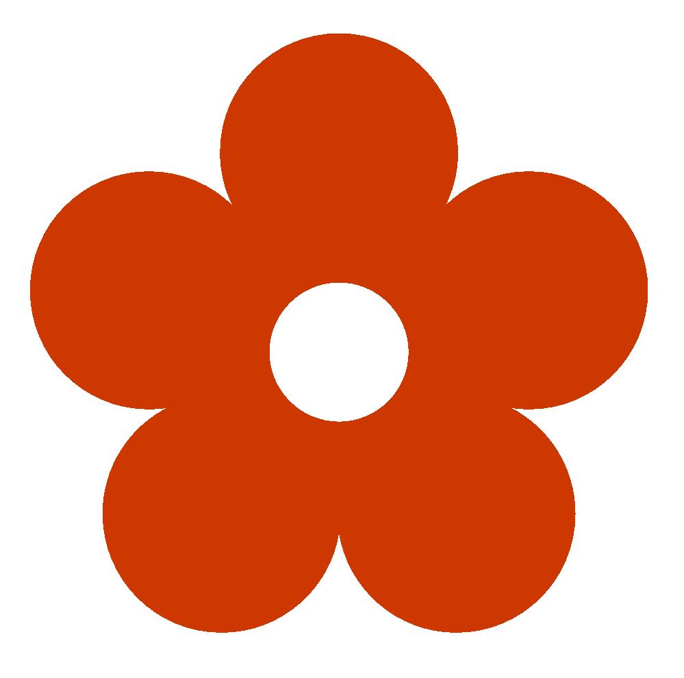 Retro Flower 1 Color Colour | Clipart Panda - Free Clipart Images