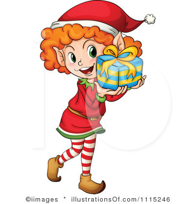 RF) Christmas Elf Clipart