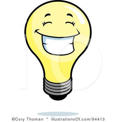 Elegant Light Bulb Clip Art