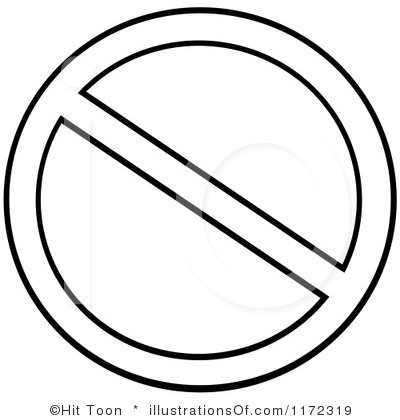 RF) Prohibited Clipart
