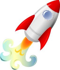 Rockets Clipart Image: Cute 3D