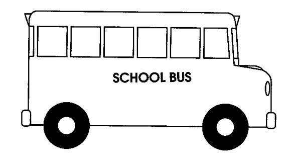 School Bus Coloring Page | Clipart Panda - Free Clipart Images