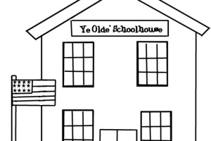 School House coloring pages Clipart Panda Free Clipart Images