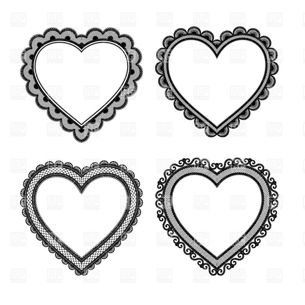 Vintage Lace Heart Clipart