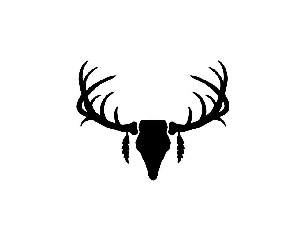 silhouette vector deer antler clipart panda free clipart images rh clipartpanda com free deer antler vector art deer antler vector free