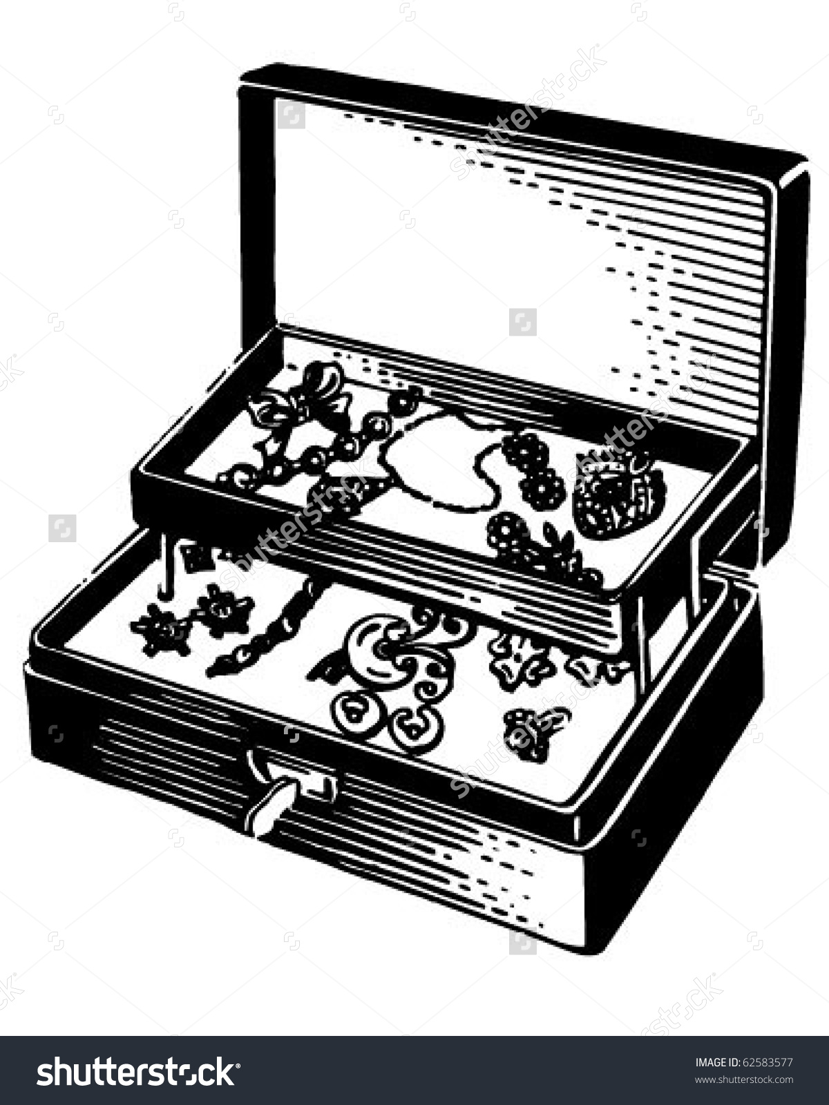Silver Jewelry Box Retro Clipart Panda Free Clipart Images