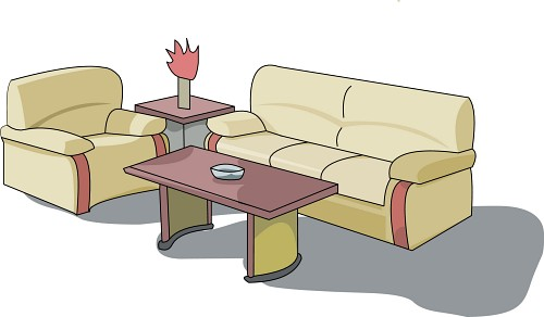Sofa Set Clip Art