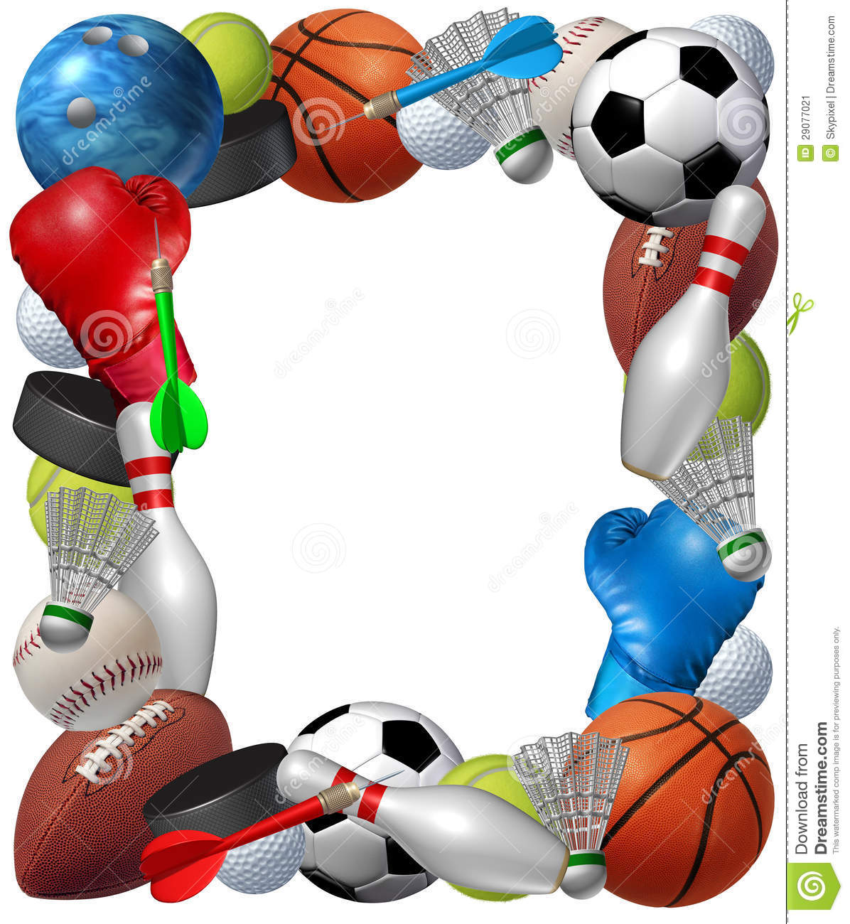 Sports frame with sport | Clipart Panda - Free Clipart Images