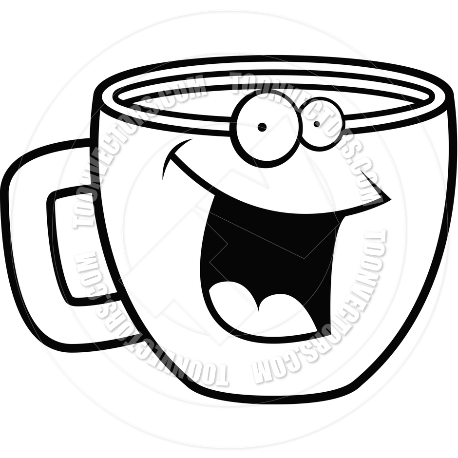 Tea Cup Clip Art Black And | Clipart Panda - Free Clipart Images