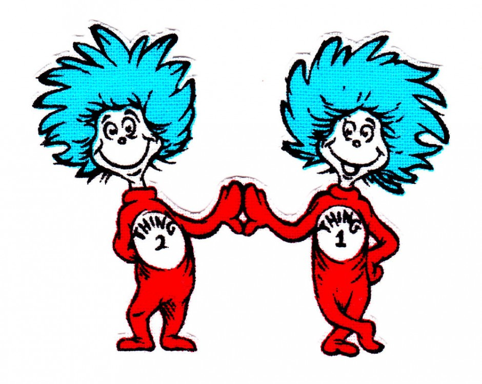Thing 1 and thing 2 printable  Clipart Panda  Free Clipart Images