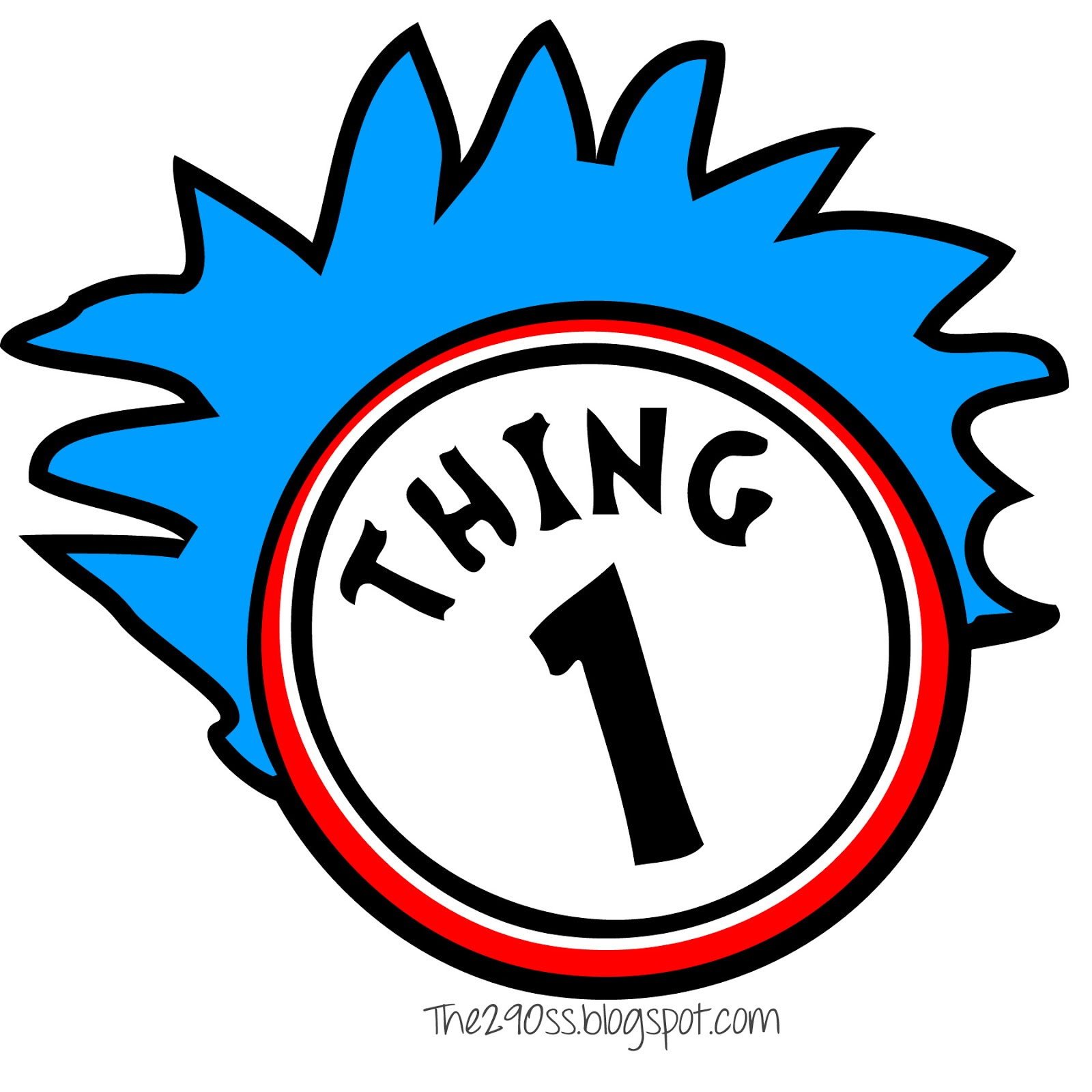 Thing one and Thing two  Clipart Panda  Free Clipart Images