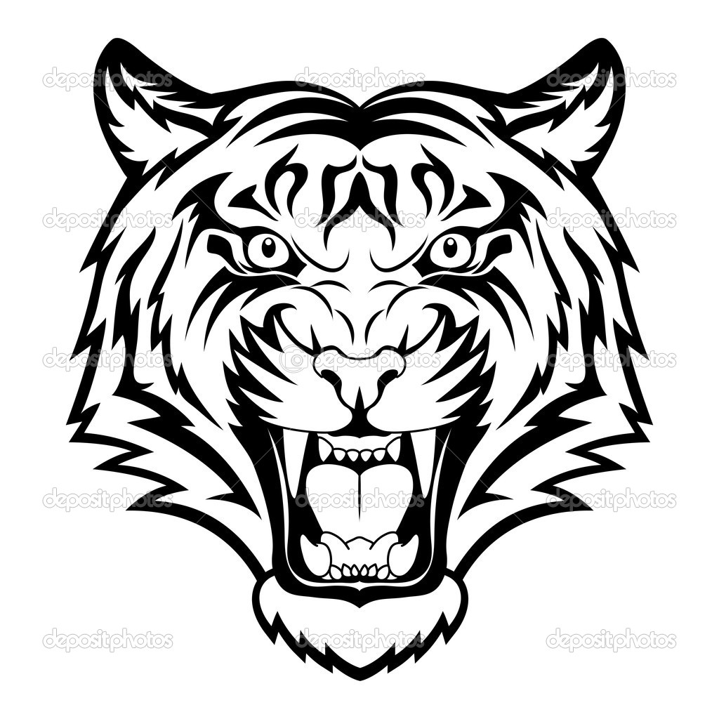 tiger face clipart black clipart panda free clipart images rh clipartpanda com tiger face clipart black and white