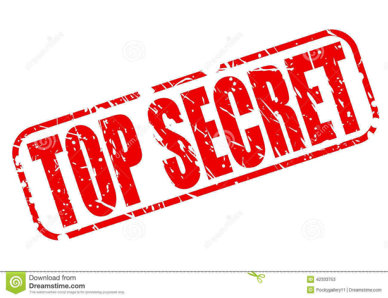 Top Secret Red Stamp Text