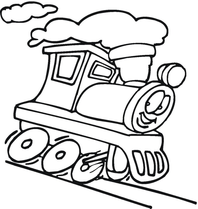 Train Cars Coloring Pages Toy
