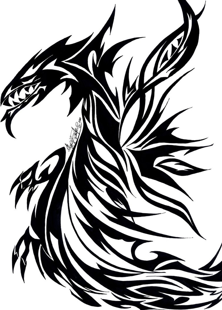 46875708f tribal flying dragon by arch- | Clipart Panda - Free Clipart Images